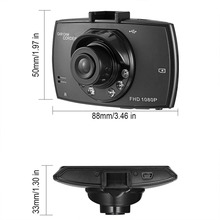 Car DVR Driving Camera G-sensor Car Camcorder Portable HD 16:9 LCD Night Vision Built-in Speaker Motion Detection Digital Video