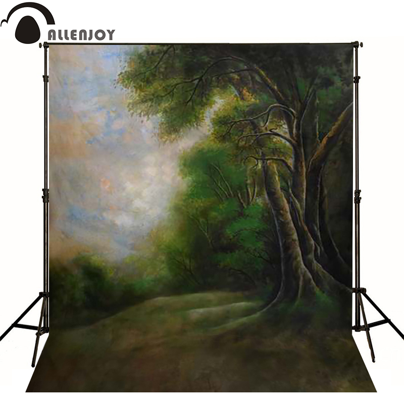 Allenjoy vinyl backdrops for photography Dark blue sky and trees in forest photo background childern baby photoll princess<br><br>Aliexpress
