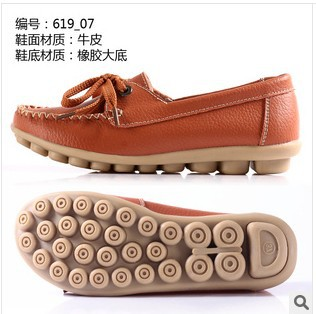 2014 autumn mother work shoes genuine leather women shoes big size moccasins women Anti-skid oxford boat shoes for women H619<br><br>Aliexpress