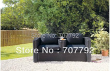 2016 Outdoor Furniture sofa Garden Rattan 2 Seater Sofa