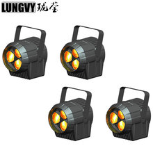 Free Shipping 4pcs/Lot New Product Night Club Lighting Mini 3x15w Rgbw 4in1 Zoom Par Led Dj Light(China)