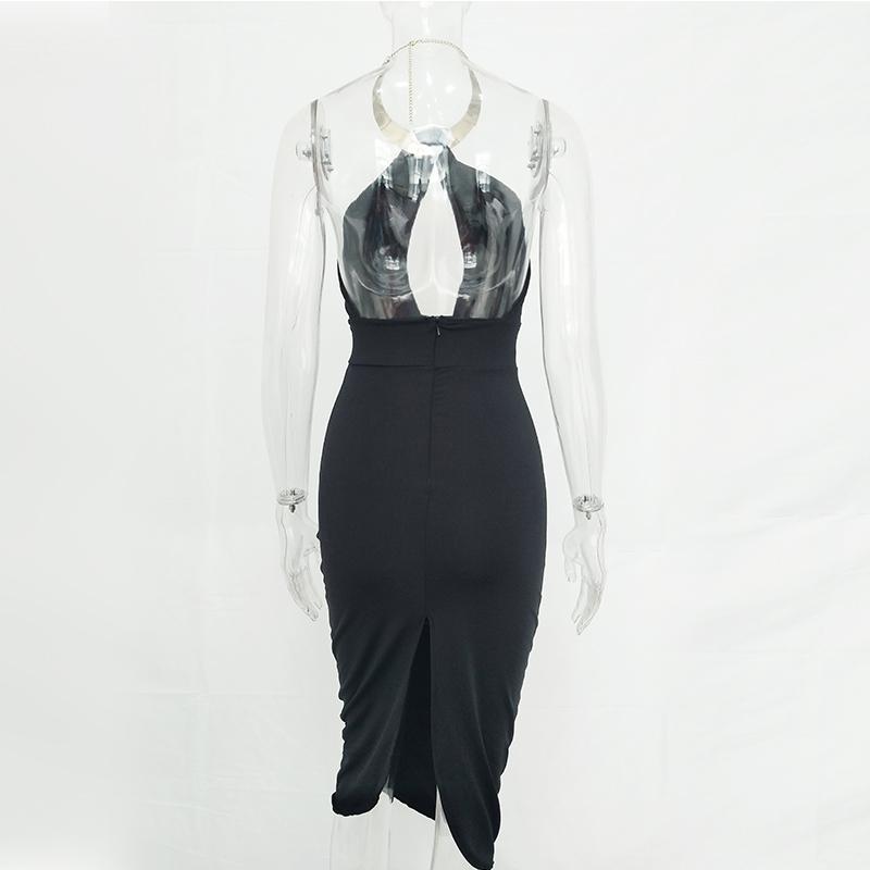 Articat Hollow Out Party Bodycon Bandage Dress Women 17 Off Shoulder Choker Long Pencil Dress Sexy Backless Split Winter Dress 16