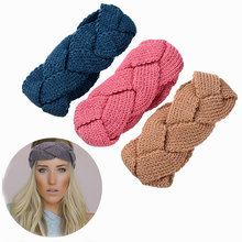 M MISM 1 PC Solid Wide Knitting Headband Winter Warmer Wrap Headwear Stretch Headband Turban For Women Girl Hair Accessories(China)