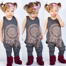 Baby autumn spring clothing set Infant Baby Girls Kids One Piece Romper Jumpsuit Outfit Clothes floral girls rompers(China)