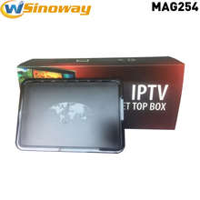 5pcs  IPTV TV Box MAG254 support USB Wifi Adapter Linux 2.6.23 Operating System Ip tv Set Top Box MAG 254 Wifi media player