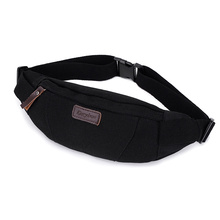 New Waist Packs Canvas Match Leather Chest Bag Portable Small Capacity Men and Women Fanny Waist Bag Top Quality  Wholesale