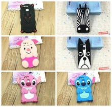 3D Cute Cartoon Front Colorful pig stitch dog Soft Silicone Mobile Phone Bags Case Cover For Huawei Ascend P9 / P9 Lite