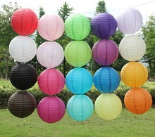 6 '' (15cm) 10Pcs/lot paper lantern Chinese round lamp  festival decoration Lampion Wedding Decor glim party scaldfish hangsing