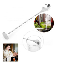 Stainless steel long handle spoon  Coffee Latte Ice Cream Soda Sundae Cocktail Scoop Multi function wizzle stick