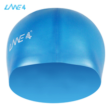 LANE4 soft silicone swimming caps,waterproof Flexible and comfortable, high durability male and female swimming cover AJ040(China)