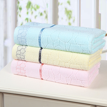 Promotion 100% Cotton Water cube Bath Towel Yarn Strands Very Soft Good Quality Bath Towel 3 colors(China)