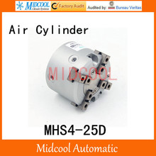 MHS4-25D double acting pneumatic cylinder gripper pivot gas claws parallel air 4-fingers SMC type cylinder