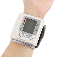 Health Care Portable Wrist Blood Pressure Pulse Meter Digital Automatic Blood Pressure Monitor Household Heart Beat Rate Measure(China)