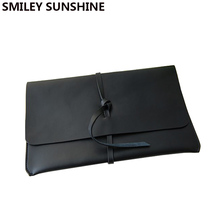 100% Genuine Leather Envelope Clutch Bag Day Clutch Female Bag Black Small Women Leather Handbags Fashion Ladies Hand Bags