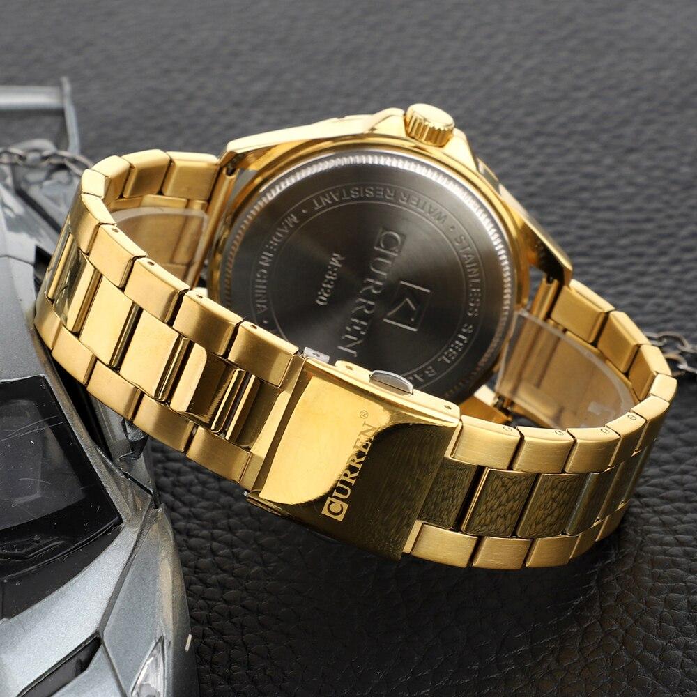 CURREN Fashion Men\\\'s Watch with Stainless Steel Strap Simple Creative Quartz Wristwatch for Men Clock erkek kol saati Waterproof 2019 (25)