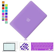 Ultra Slim Light Weight Rubberized Hard Case for macbook pro 13 inch Air 11 New 12 13.3 15.4 w/ Retina funda portatil 15.6 inch