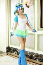 new Sexy Halloween Female clothes Three eye monster clothes Cosplay Costume free Size for Halloween hot sale(China)