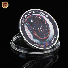 WR Minnesota Twins MLB Silver Coin Quality 999.9 Silver Challenge Coins Quality Business Souvenir Gifts Metal Crafts
