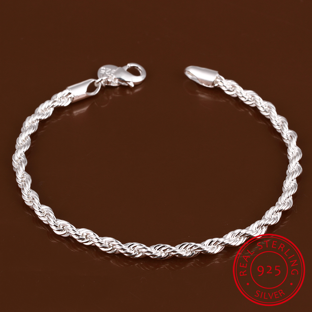 Lekani Fine-Jewelry Bracelet Chain Charm 925-Sterling-Silver Women for And 4mm Flash title=