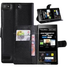 1pcs luxury wallet book style Leather PU Case for BlackBerry z3 bb z3 leather case with credit card holder stand function
