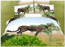 3D Leopard cheetah animal print  bedding sets queen size bedspread sheets duvet cover designer bed in a bag cotton oil painting