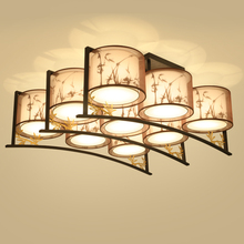 Chinese living room Ceiling lamps rectangular bedroom study light simple antique corridor restaurant Ceiling Lights LO7147(China)