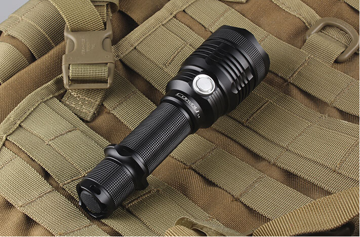 Free Shipping Convoy L4 Cree XM-L2 U2-1A side switch LED Tactical Flashlight (extension tube included)<br>