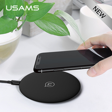 Qi Wireless Charger 10W USAMS Fast Wireless quick Charger Mobile Phone Charging For Samsung Galaxy S8 S7 Note 8 iPhone X 10 8(China)