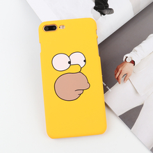 Mr.Orange Funny Cartoon Phone Case For iphone 7 Case Fashion Yellow Hard PC Back Cover Cases For iphone 6 6s 7 plus Case Capa(China)