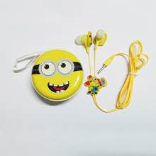 2017 New Silicone Piston Stereo Headphone Cute Cartoon Earphone With Nice Box For Mobile Phone & MP3 Player