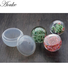 Aouke 60mm 1PC Fashion Crystal Silicone Mould Geometric Pendant Mold Jewelry Marking Tool Craft Sphere Shape Q118