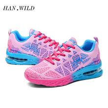HANWILD Brand Women's Rouge Rabbit 2017 Smart Running Shoes Cushioning SMART CHIP Sneakers  Sports Shoes ARHM508