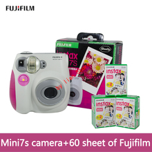 original mini 7S camara instantanea fujifilm+film 60 Instant Film Photo Camera Blue and Pink appareil photo instax Free Shipping(China)