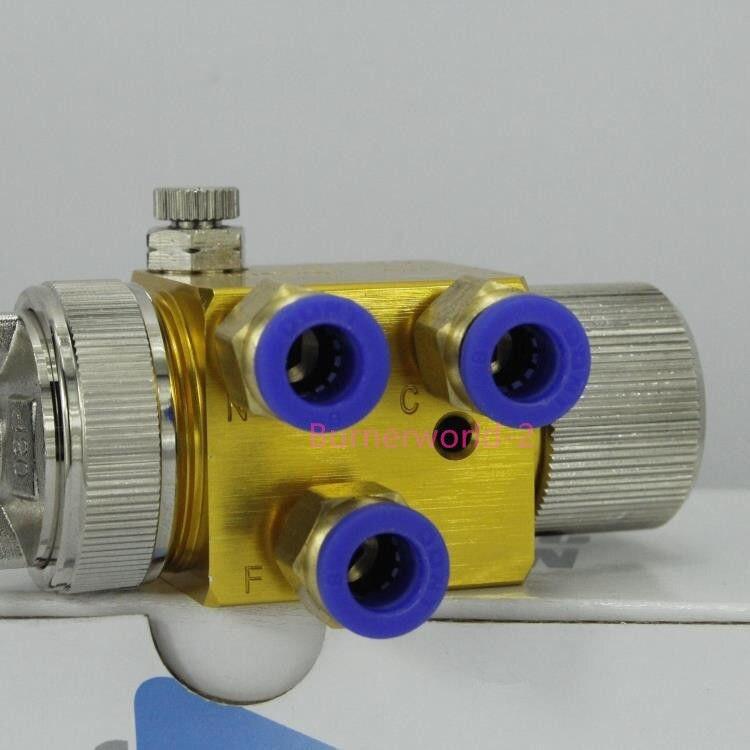 Free shipping Japan Meiji A-100 Automatic Pneumatic High Atomization Spray Paint Spraying Gun hydraulic head 0.8/1.0/1.3mm<br>