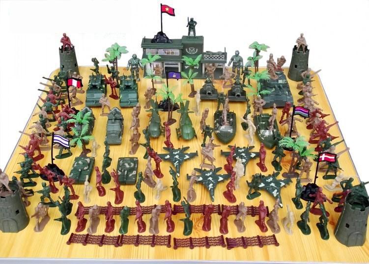 BOHS World War Ii Army Man 146pcs/set Military Model Scene Toy Airplane Tank Boy Birthday Gift<br>
