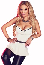 Wome White Charming V Neck Flare Clubwear Top 2017 Summer Lady Girl Casual Sexy Spaghetti Strap Club Cami Top Camisole Croptops