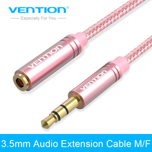 Vention 3.5mm headphone extension cable Jack 3.5 mm Audio Extension Cable Stereo Aux Extender Cable 1m 2m 3m for Computer/Phone(China)