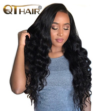 Autumn Trendy Peruvian Hair Bundles Loose Deep Nice Ends 100% Human Hair Weaving Natural Black Color 8-28 Inch Non Remy QThair(China)
