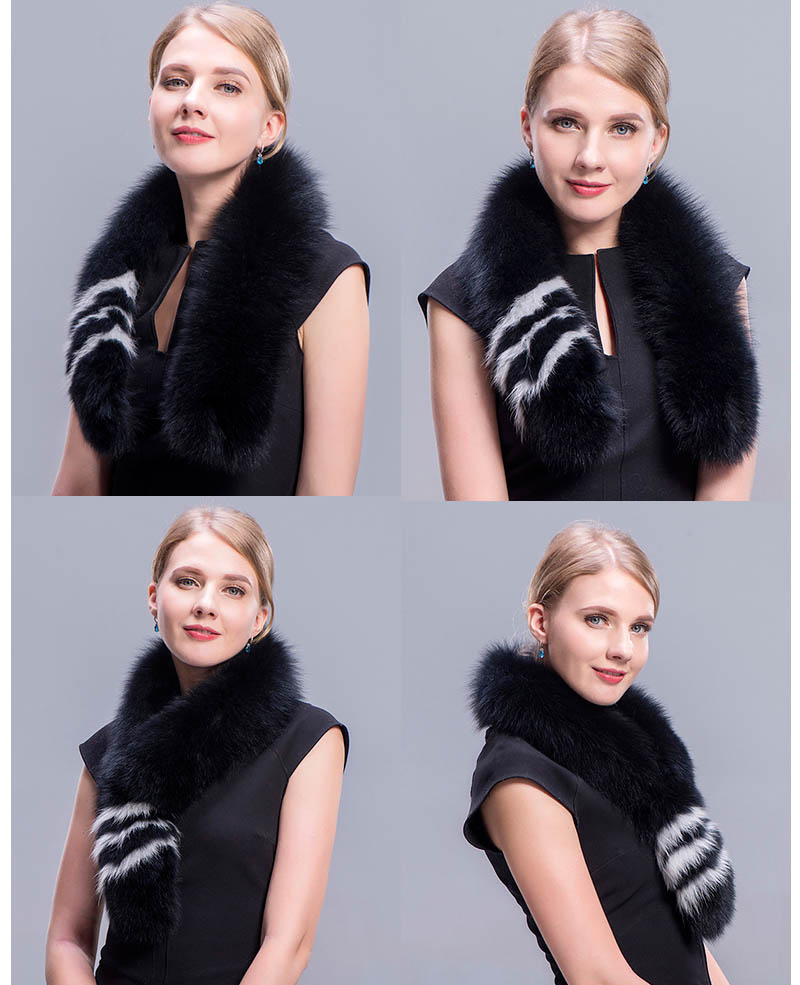 fox fur scarf black 5