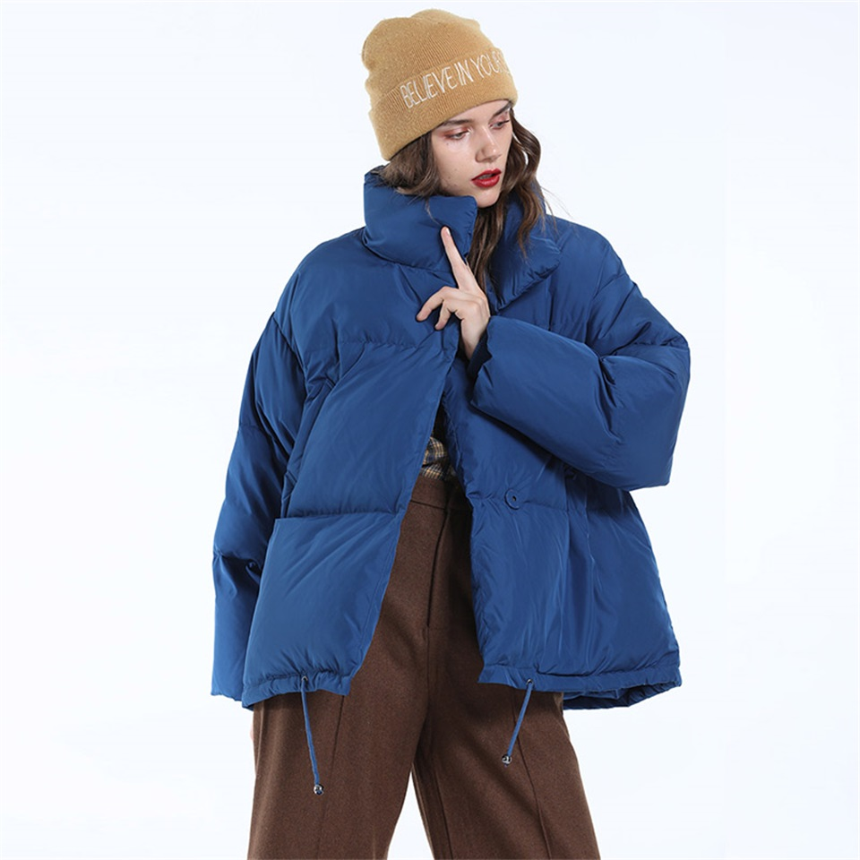 Autumn Winter Jacket Women Parkas Mujer 19 Fashion Coat Loose Stand Collar Jacket Women Parka Warm Casual Plus Size Overcoat 12