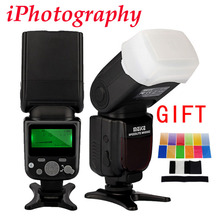 MEIKE MK-930 II MK 930 II LCD GN58 Flash Speedlite single point flash for Canon Nikon Pentax Olympus DSLR + diffuser + filter