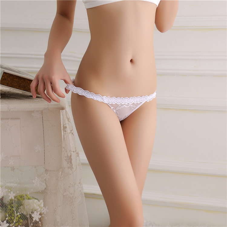 Sexy Women's Lace G String Thongs, Newest Dew Hips Transparent, Seamless Underwear, Super Thin Hollow Thong 14