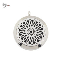 10Pcs Silver Hollow Flower Aromatherapy Lockets /Essential Oils Diffuser Locket Pendants Stainless Steel Purfume Lockets Jewelry