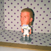 Soccerwe Classic Season Football Star Doll RM 23 David Beckham Figure 6.5 cm Height Resin Souvenir White Kit Gift(China)