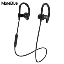 MoreBlue BT-92 Wireless Bluetooth Earphones Sport Running Headset HIFI Stereo Super Bass Headphones Earbuds Handsfree With Mic(China)