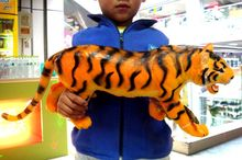 61cm Giant Software Tiger Model Toy Simulation Animal Model Children Birthday Gift Kids Toys Teaching Model Home Decor