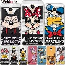 Cool Mickey Minnie Cartoon Case Meizu M5c M3s M5s M3 M5 M6 Note Pro 6 U10 U20 Soft TPU Phone Back Cases Cover Shell Coque