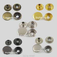 "100 PCS 12mm 15mm Leather craft Rapid Rivet Button 5 Colors Metal Snaps Fasteners 1/2"" 5/8''(China)"