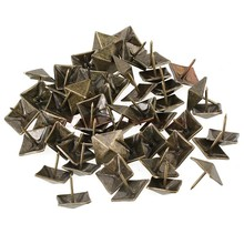20pcs antique bronze nail square tapered interior upholstery nail spikes square stud/sofa/Furniture Plaza rivets Retro nail