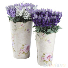 Summer Discount 10 Heads Artificial Lavender Silk Flower Bouquet Wedding Home Party Decor for Display 01P1 3XKD(China)